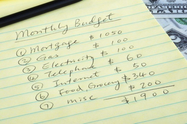 how to budget example